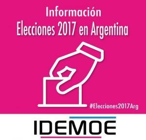 elecciones idemoe 2 - Particularidades de las elecciones del 22 de Octubre 19 octubre, 2017