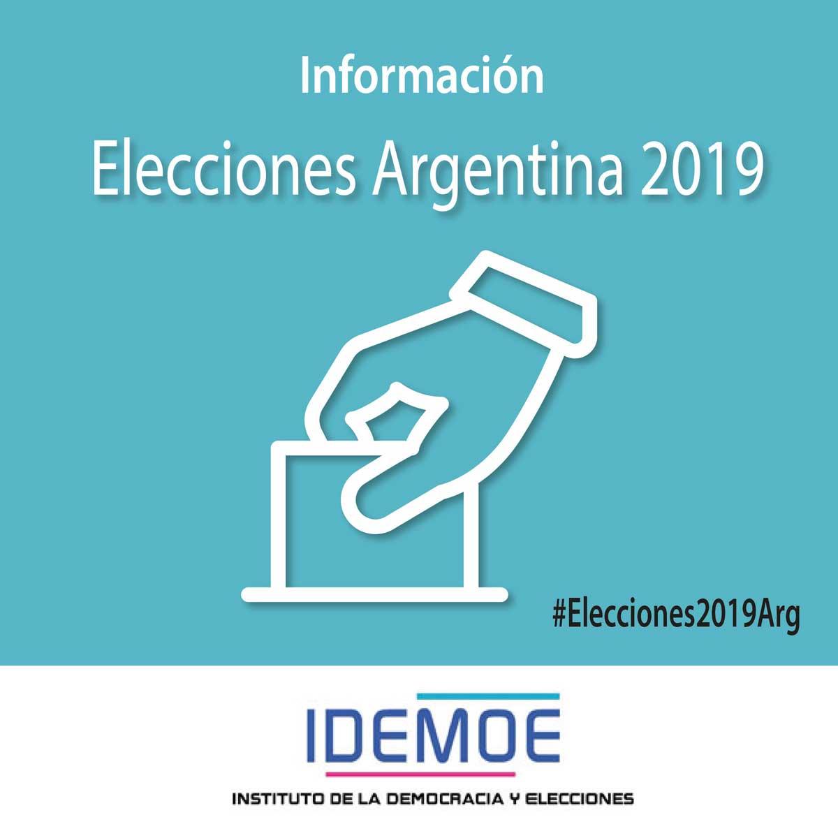 elecciones idemoe 2019 ARGENTINA - Elecciones Argentinas 2019 8 febrero, 2019