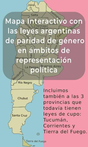 Mapa intercativo leyes paridad en argentina