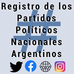 Registro partidos politicos argentinos en internet