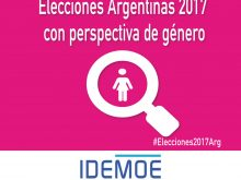 IDEMOE propone que se profundice la  perspectiva de género en el proceso electoral 2017