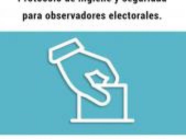 Protocolo COVID 19 para observadores electorales de IDEMOE