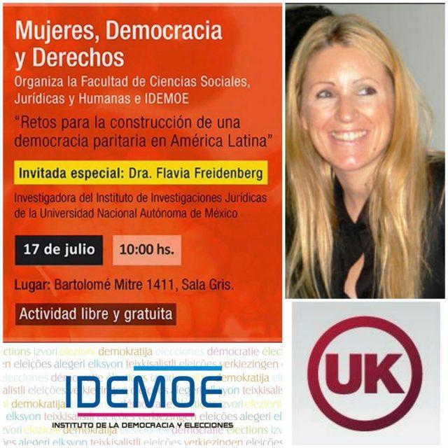 """Flavia Freidenberg en Mesa de Diálogo """"Mujeres, Democracia y Derechos"""""""