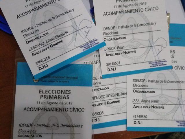 IDEMOE observará las elecciones primarias del domingo